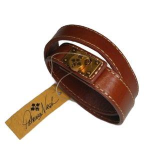 Patricia Nash Rose Tan Leather Wrap Cuff NWT